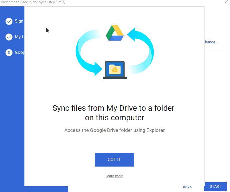 add google drive to file explorer in windows