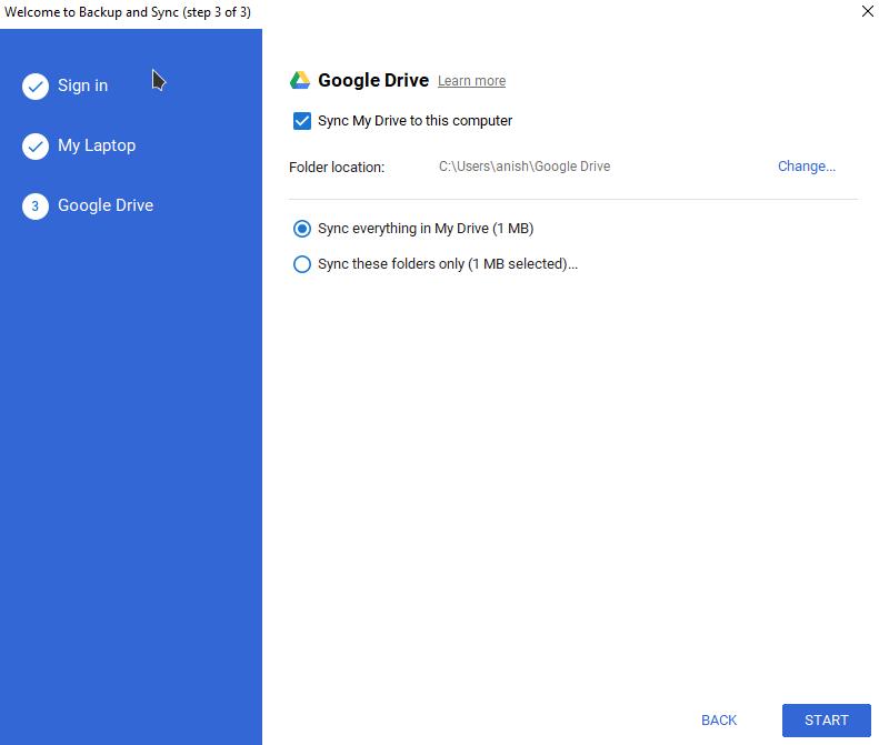 add google drive to windows