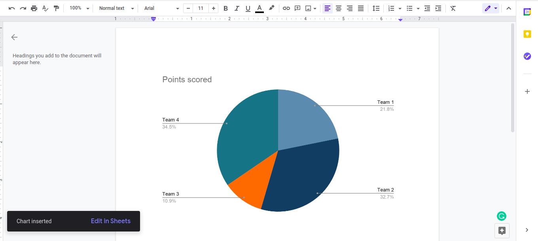 How to make graph on Google Docs