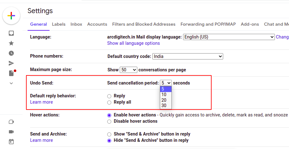 how to unsend an email in gmail