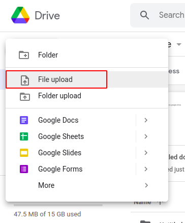 Steps to share videos on Google Drive