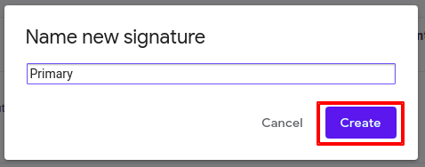 Steps to add a signature in Gmail