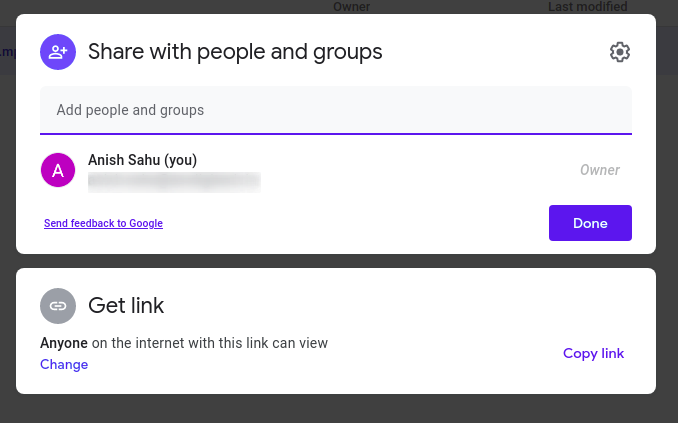 How to share Google drive link
