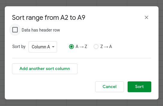 How to sort by date in Google Sheets