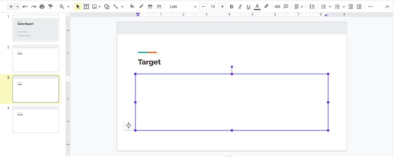 Steps to add bullets in Google Slides