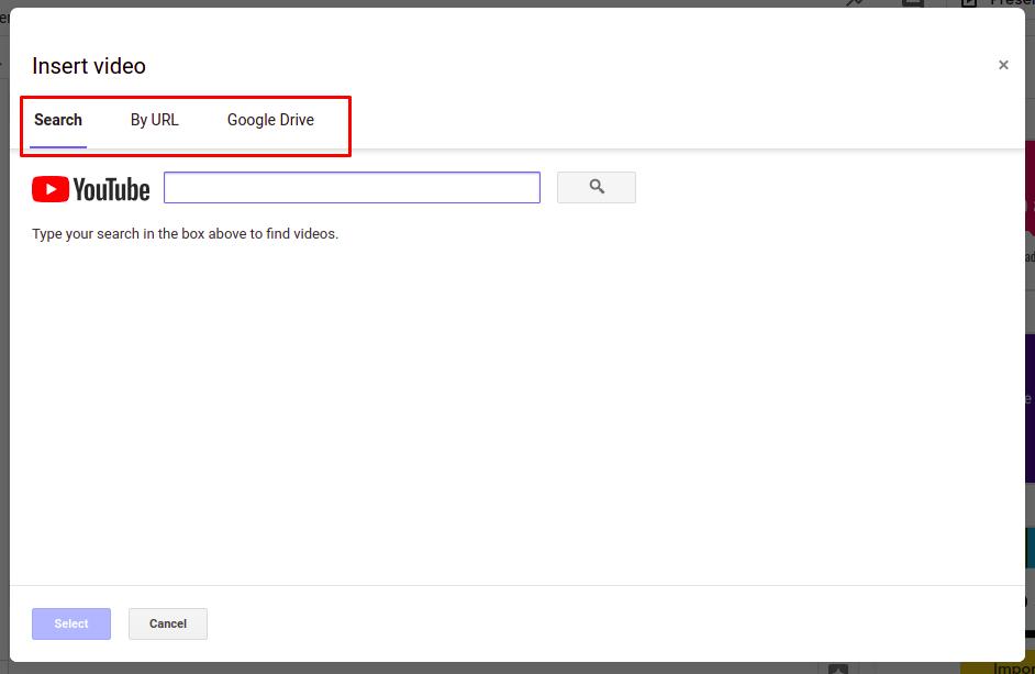 Steps to add videos to Google Slides