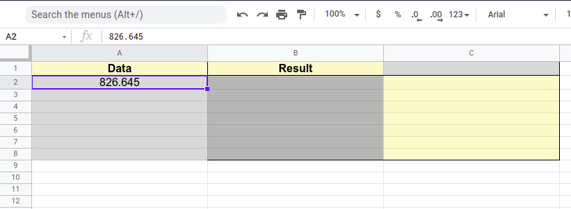 Steps to round data in Google Sheets