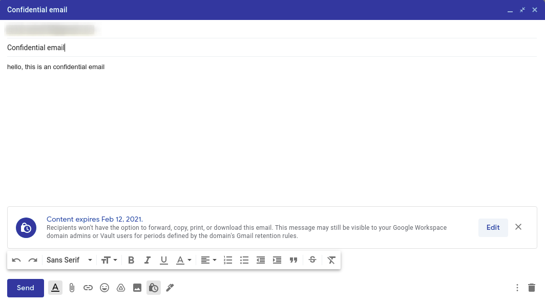 How to encrypt email in Gmail