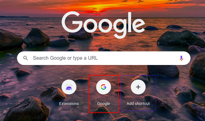Steps to add thumbnails to Google Chrome Homepage