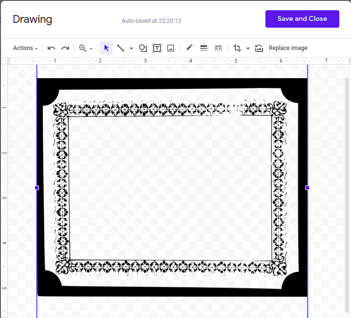 how to make a border on google docs