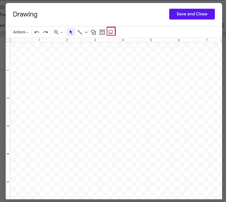 Steps to insert border in Google Docs using an image
