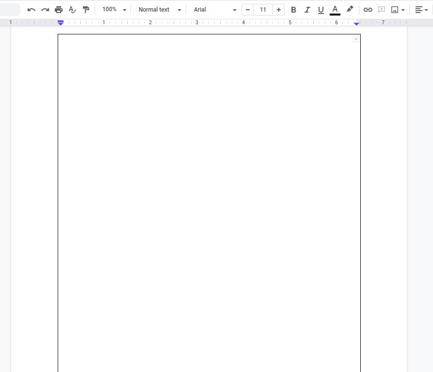 add a border in Google Docs