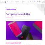 How to create a newsletter in Google Docs