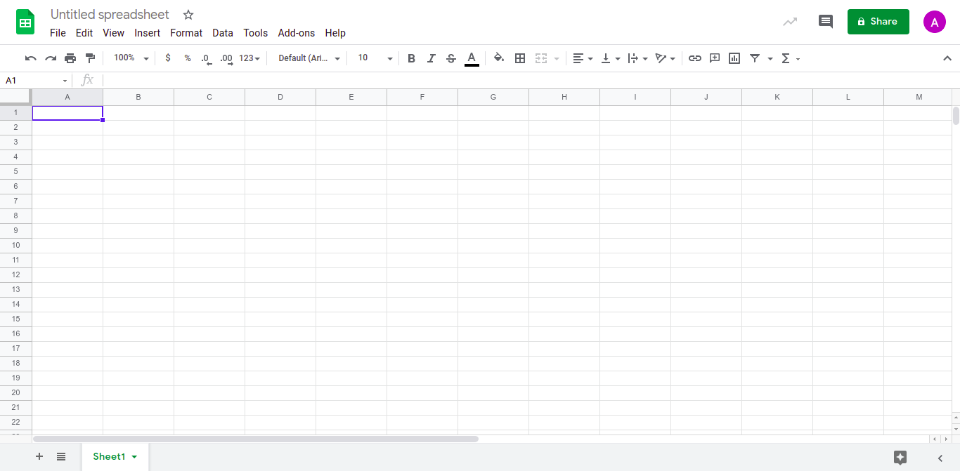Open CSV file in Google Sheets
