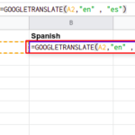 How to translate languages in google sheets?