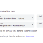 How to Add a secondary time zone to Google Calendar