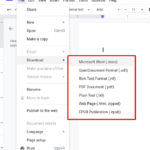 How to download google docs