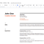 How to make a resume on Google Docs?